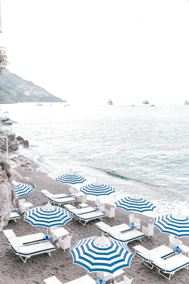 POSITANO ITALY BEACH WALL ART