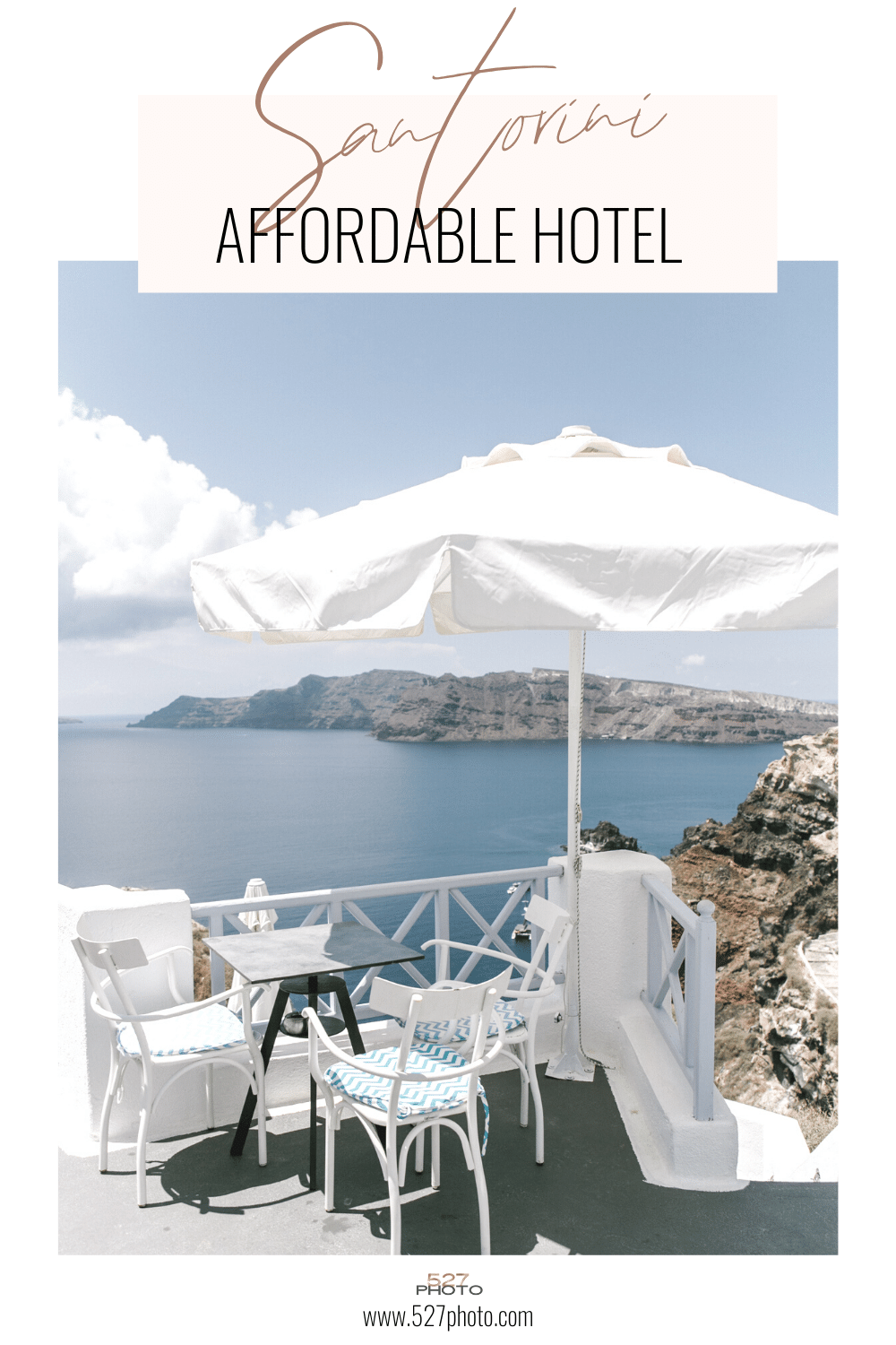 The best budget hotel in Santorini, Greece
