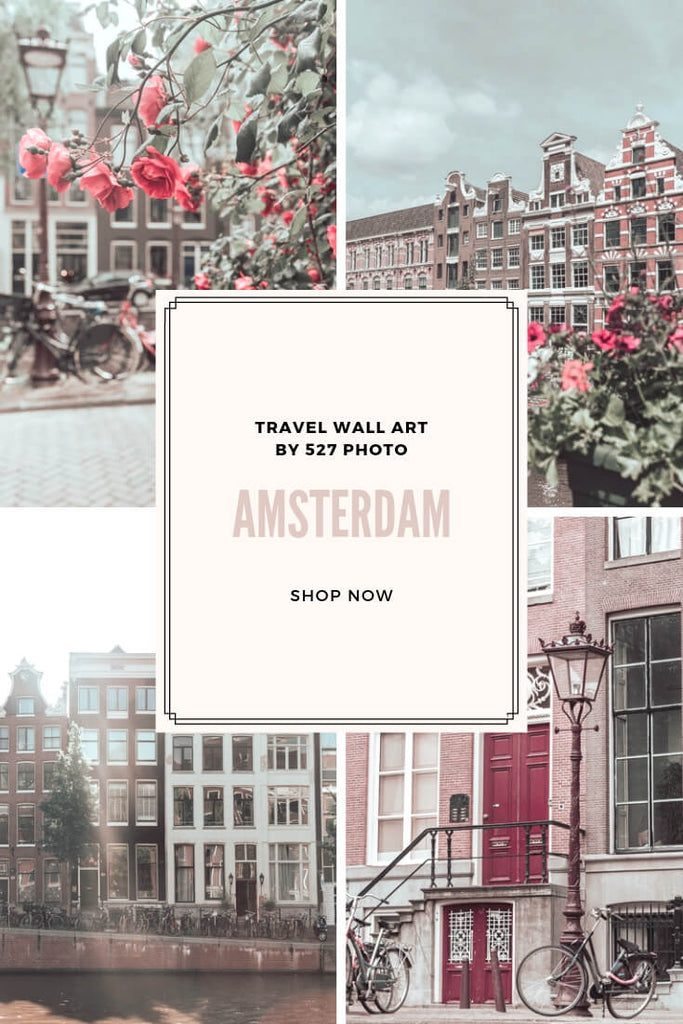 Amsterdam Travel Pink Wall Art Photography Prints
