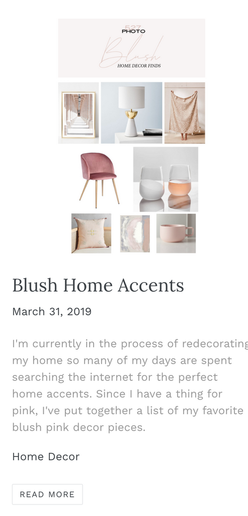 blush pink home decor finds