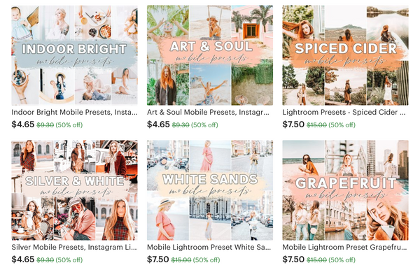 Affordable lightroom presets