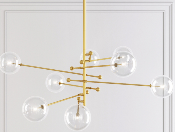Modern glam gold lighting fixture