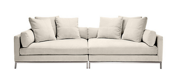 High quality ivory beige sofa