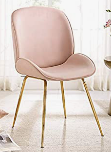 Blush pink dining chair