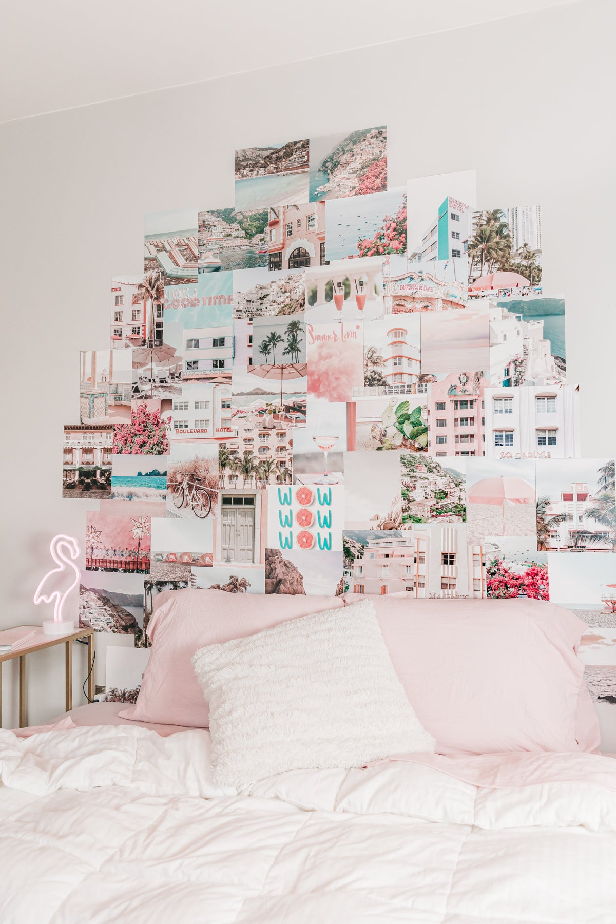 Summer aesthetic pink collage kit wall decor