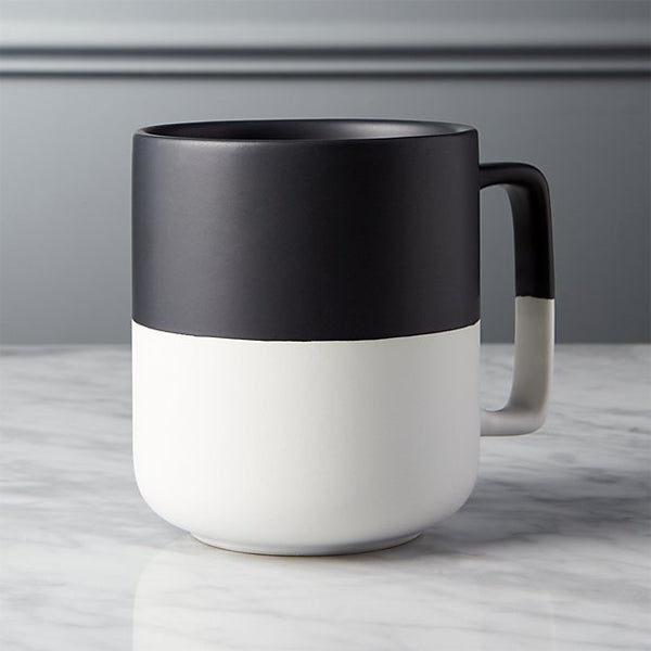 chic modern black and white coffee mugs