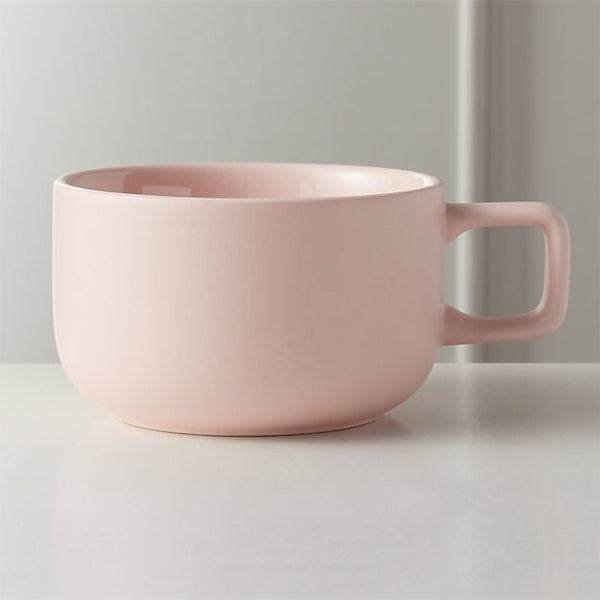 blush pink coffee mug