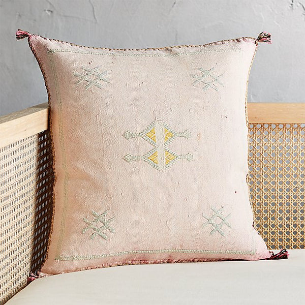 blush bohemian pillow