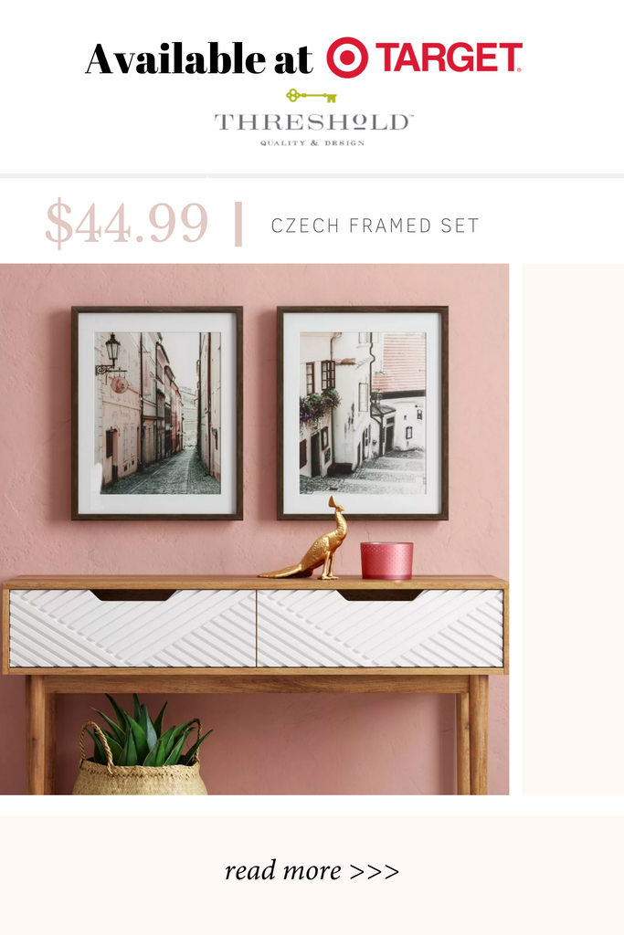framed pink wall art