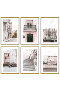 Gallery Wall Set of 6 - Europe Print Set - Estelle