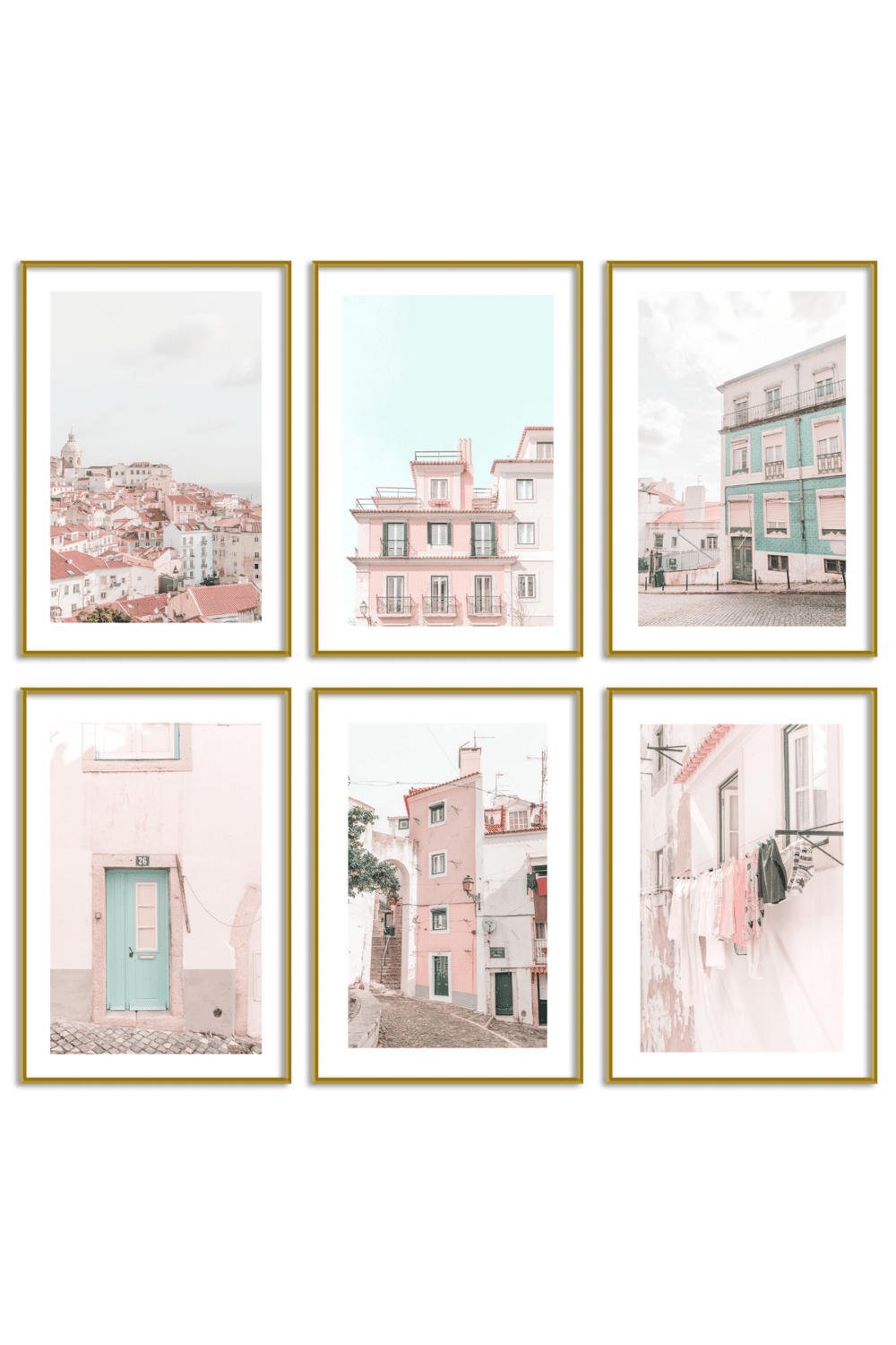 Gallery Wall Set of 6 - Lisbon Print Set - Catalin