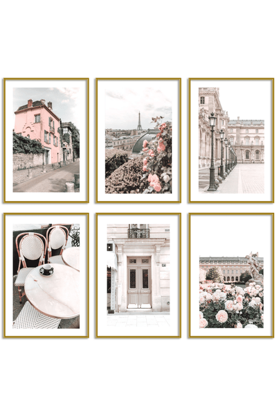 Gallery Wall Set of 6 - Paris Print Set - Angelina