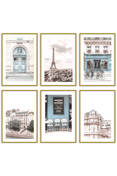 Gallery Wall Set of 6 - Paris Print Set - Louise