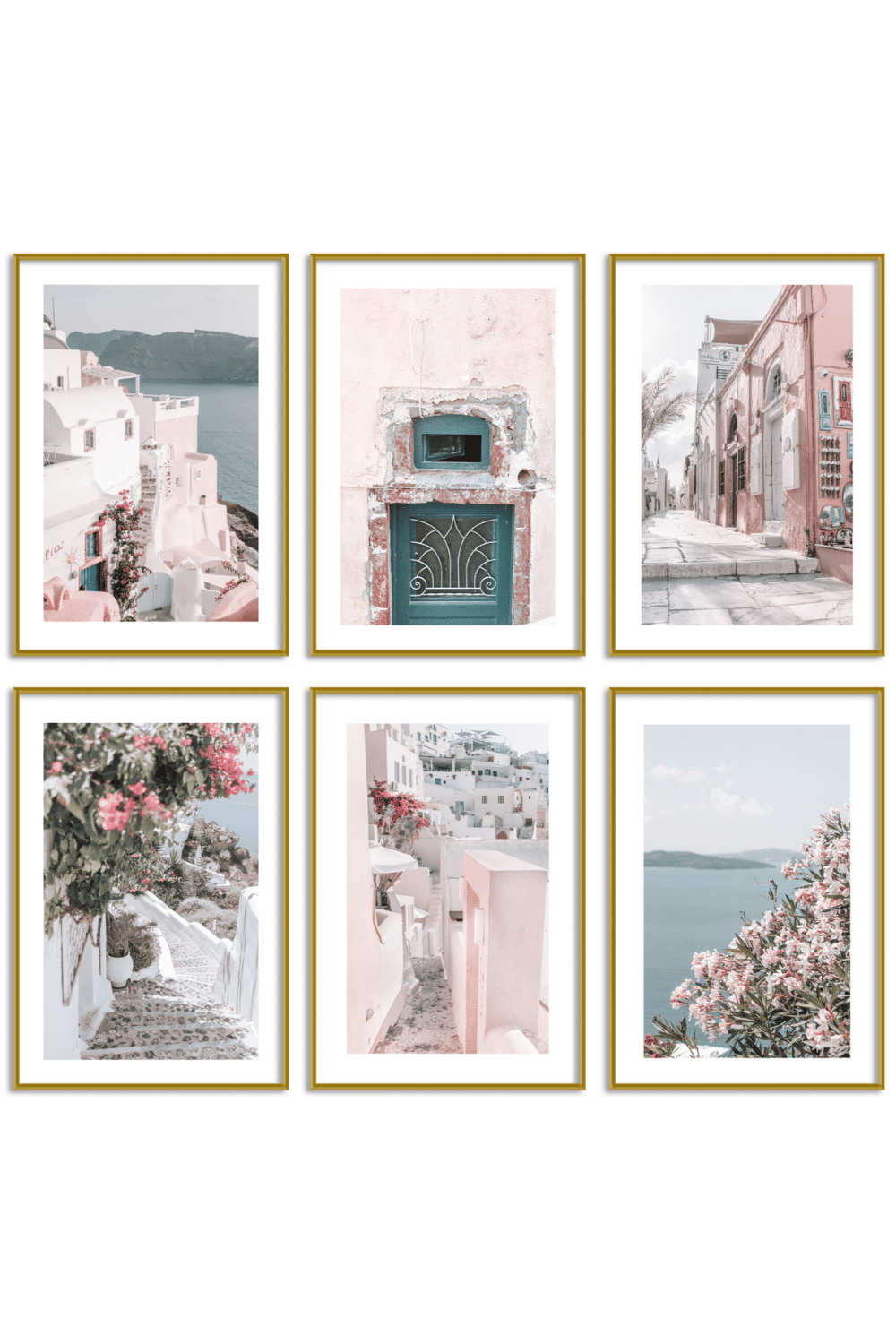 Gallery Wall Set of 6 - Santorini Print Set - Nephele