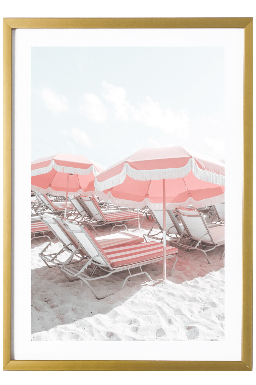 Miami Art Print - Pink Umbrellas
