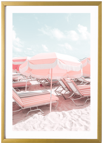 Miami Print - Yellow Umbrella