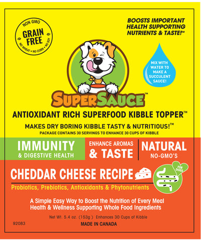 SUPERSAUCE™  White Cheddar Cheese + PROBIOTICS Digestive Health 5.4 oz. (153g) MADE IN CANADA