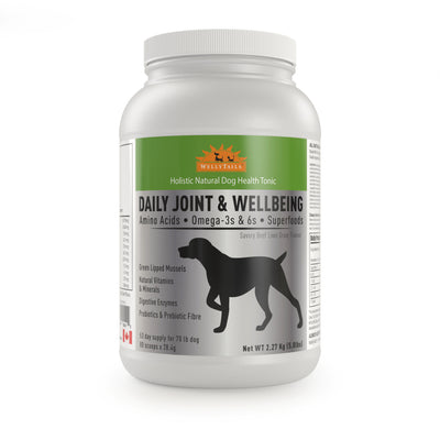 WELLYTAILS® DAILY JOINT & WELLBEING 2.27Kg (5 Lbs.) MADE IN CANADA