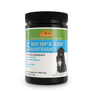 WELLYTAILS® HYPO-ALLERGENIC 5 WAY HIP & JOINT MAINTENANCE 525 grams  MADE IN CANADA