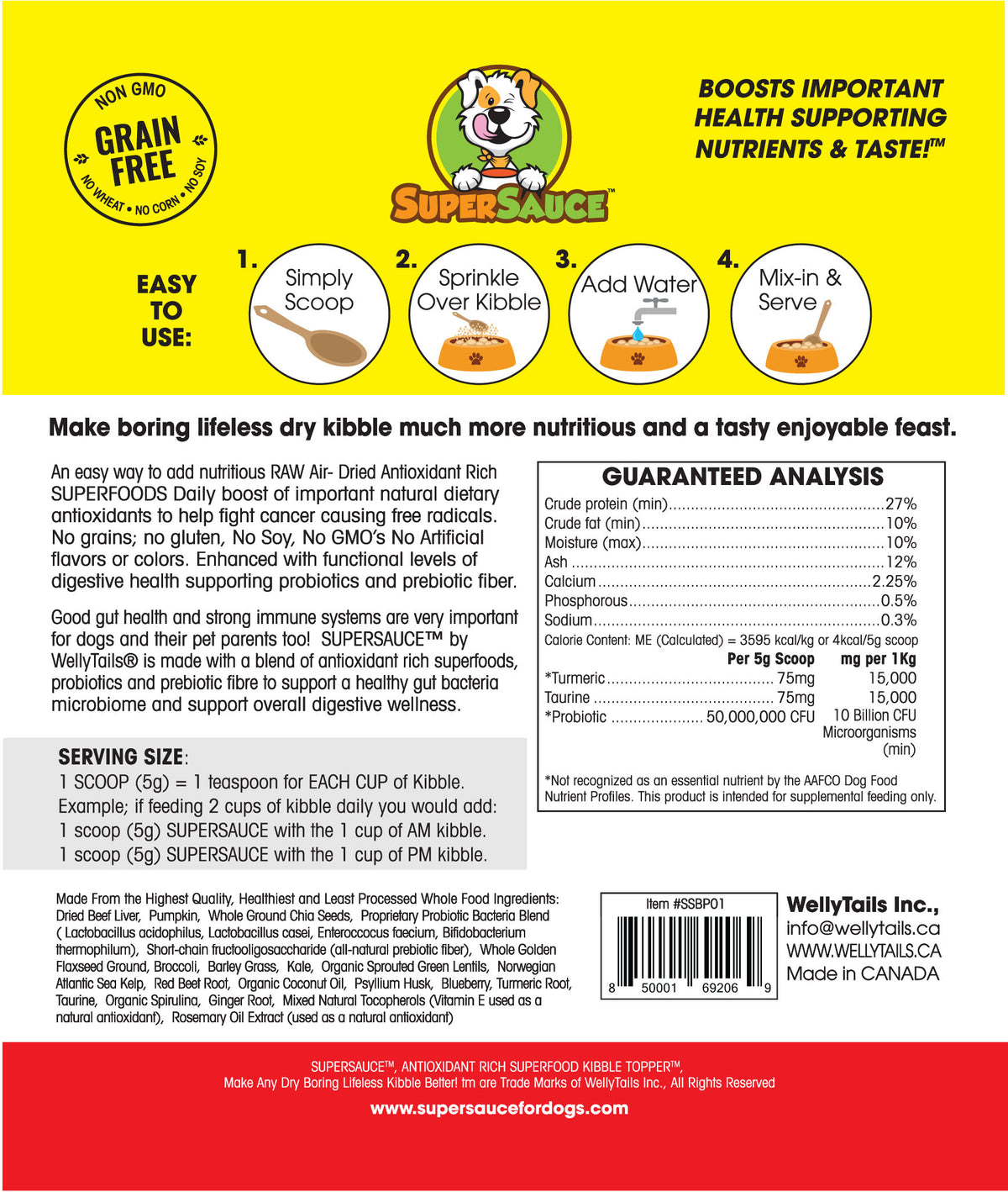 Beef Liver + PROBIOTICS Digestive Health MADE IN CANADA  (ingredients + nutrition Guide)