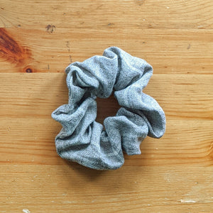 Grey and Cream Check Scrunchie Bundle - Zenzero Clothing
