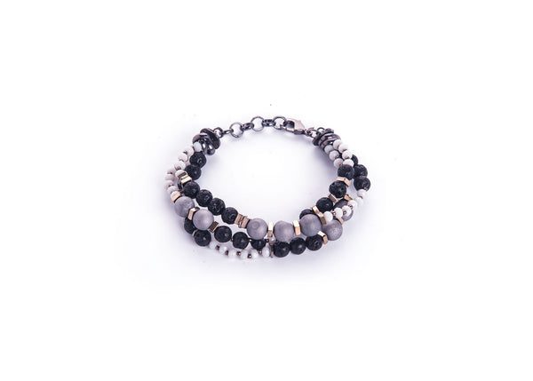 Kenzie Black-Grey Bracelet