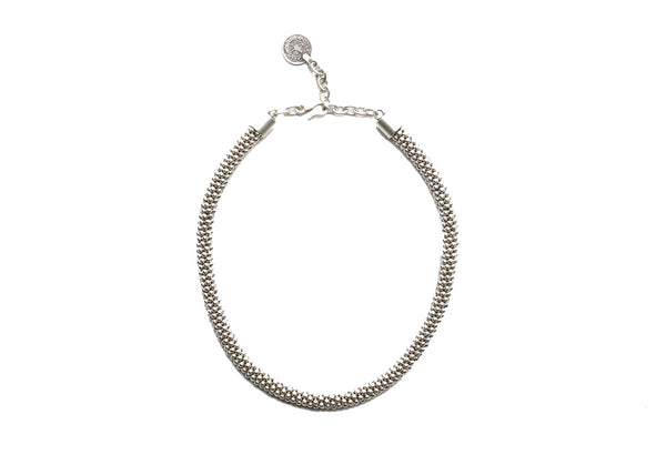 Corded Silver Plated Necklace