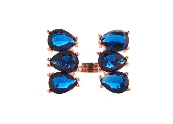 Diva Blue Crystal Ring