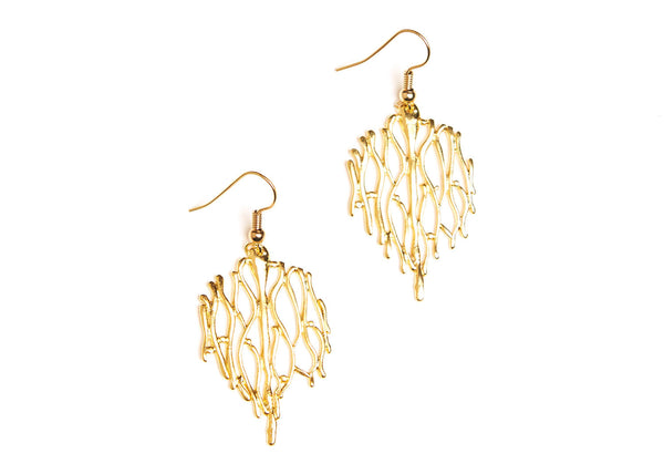 Edith Gold Plated Earrings