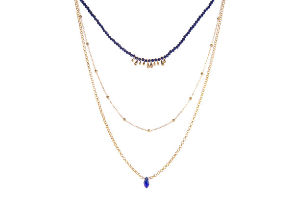 Elenor Navy Layered Necklace