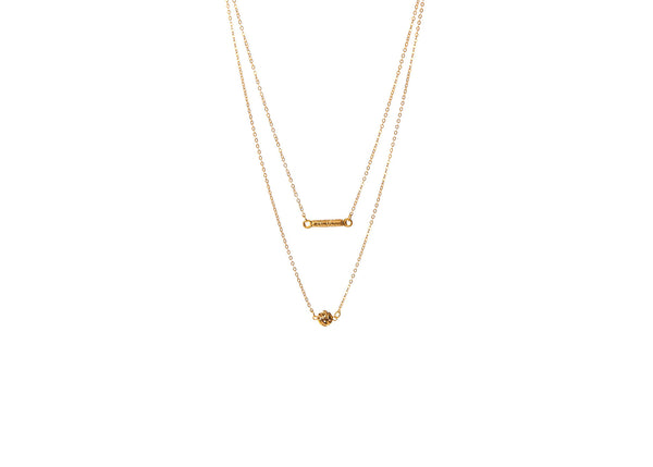 Evadine Double Layered Necklace