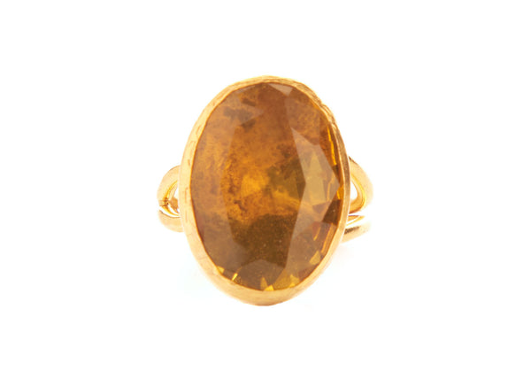 Hera Citrine Crystal Stone Ring