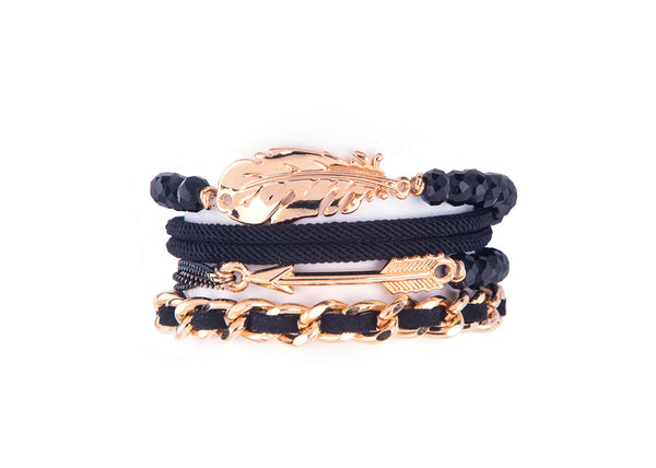 Kyra Black Gold Bracelet