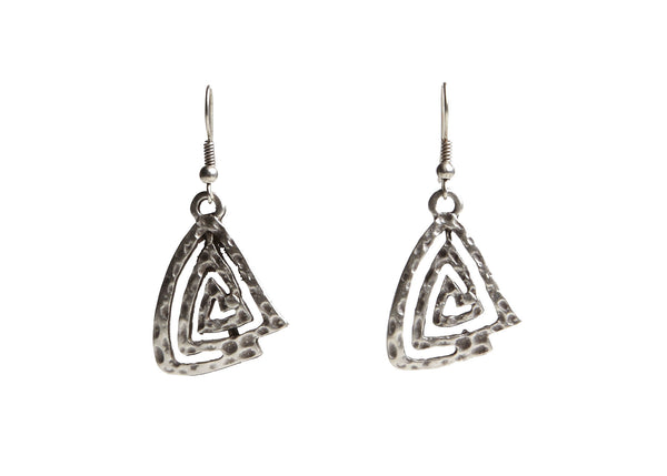 Labyrinthe Silver Plated Earrings