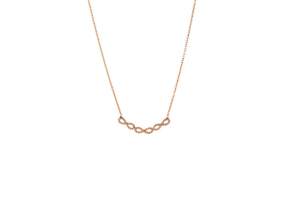 Luccia Rose Gold Plated Silver Necklace