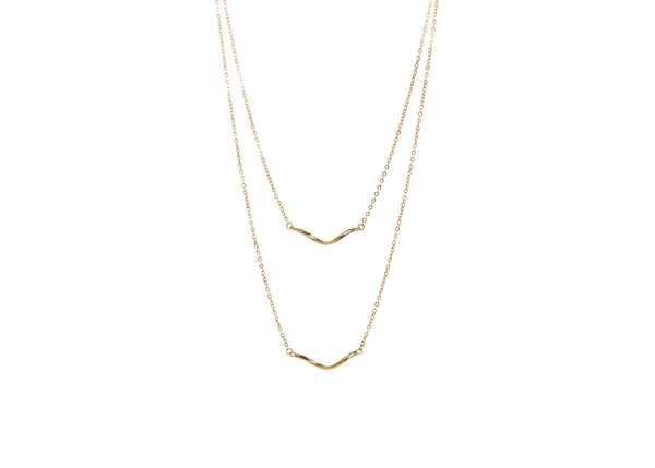 Mae Double Drop Necklace