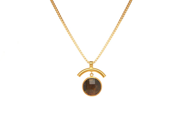 Elsa Smokey Quartz Long Necklace