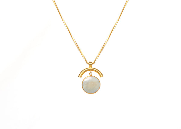 Elsa Mother of Pearl Long Necklace