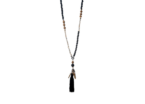 Ariyana Black-Olive Necklace