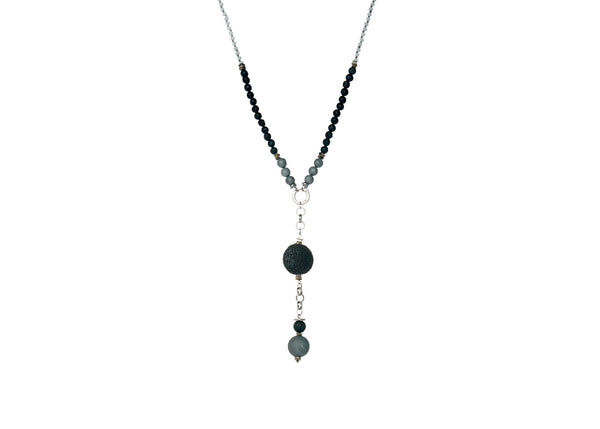 Kenzie Black-Grey Necklace