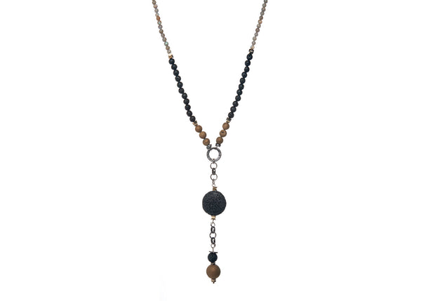 Kenzie Black-Olive Necklace