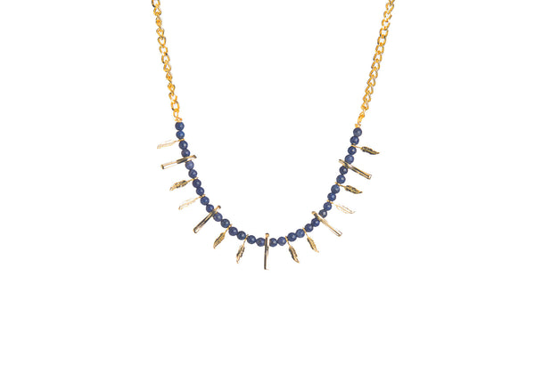 Tasaria Tribal Lapis Necklace