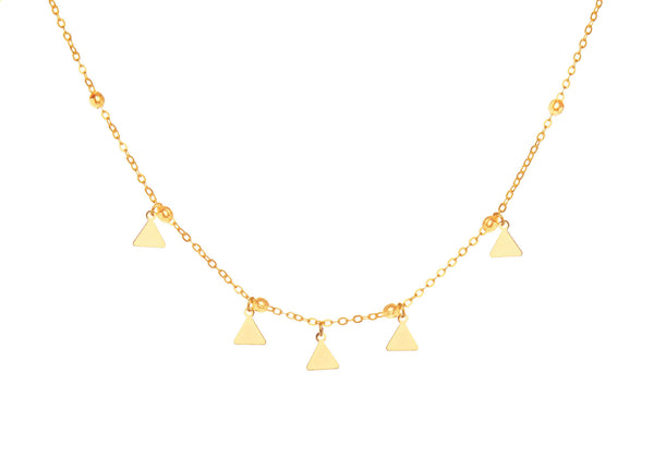 Trinity Gold Plated Necklace