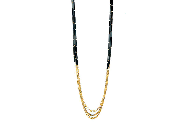 Vivienne Black Long Necklace
