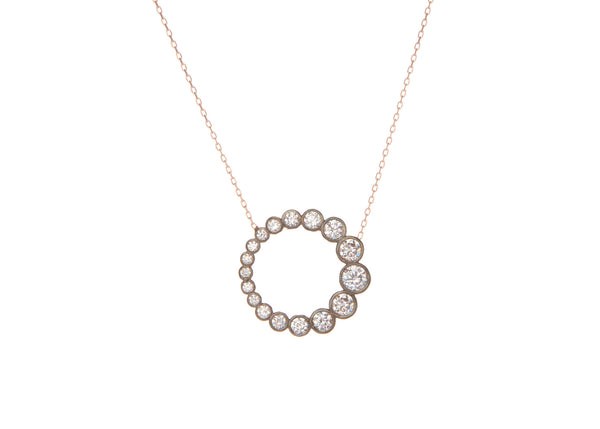 Eclipse Rose Gold Plated Silver Necklace
