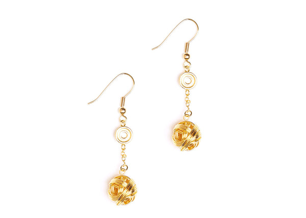 Oria Gold Plated Earrings