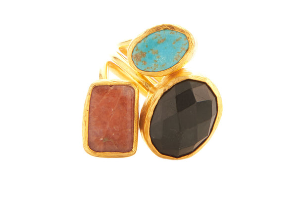 Venus Natural Stone Ring