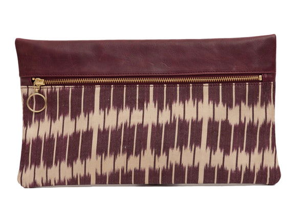 Native Bamboo Silk Leather Designer Clutch