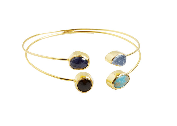 Freya 4 Pc Natural Stone Bangle