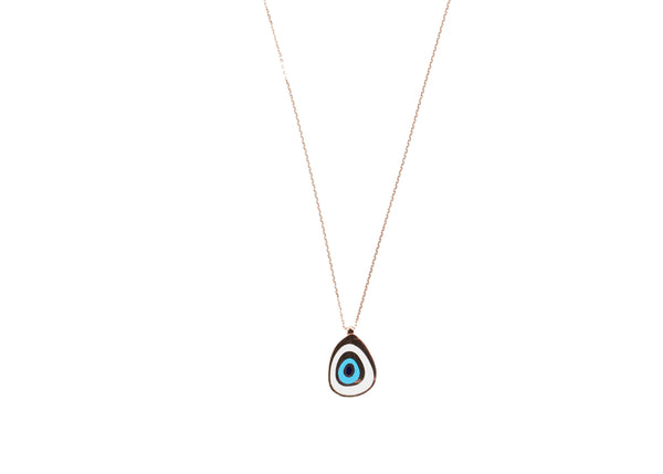 Jada Evil Eye Rose Gold Plated Silver Necklace